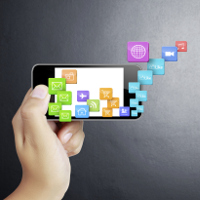 Smartphone con muchas apps